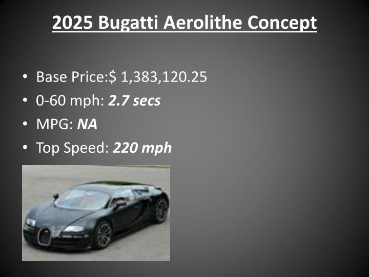 2025 Bugatti