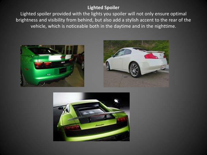 Lighted Spoiler