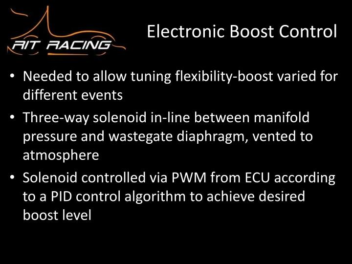 Electronic Boost Control
