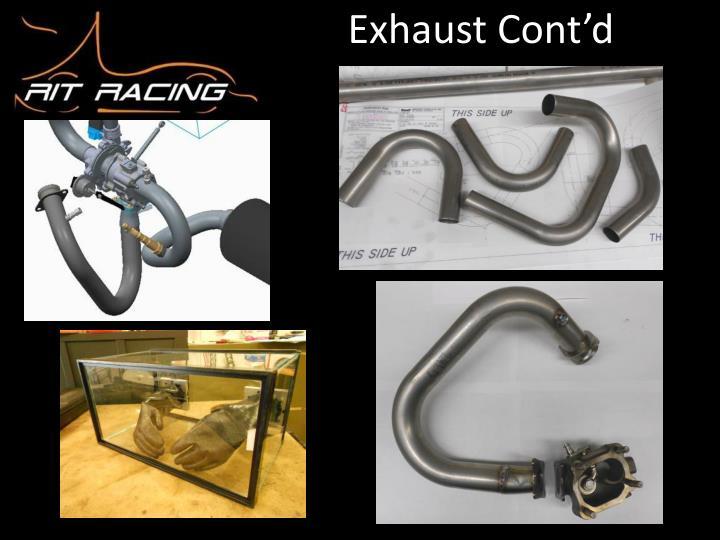 Exhaust Cont'd