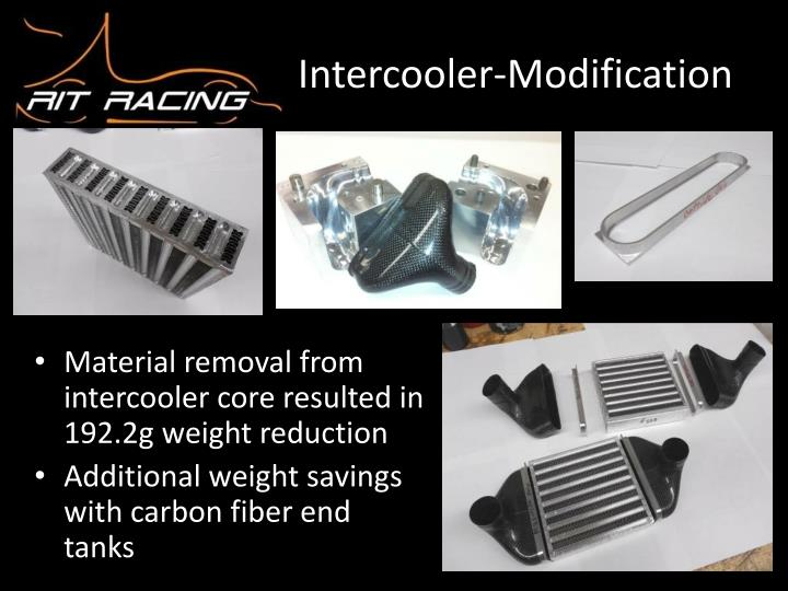 Intercooler-Modification