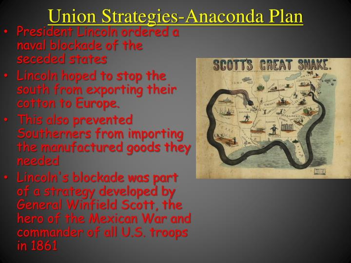 An analysis of winfield scotts anaconda plan