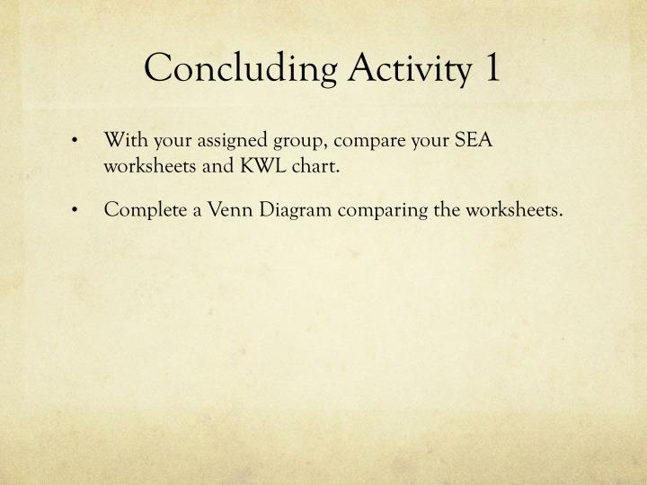 Concluding Activity 1