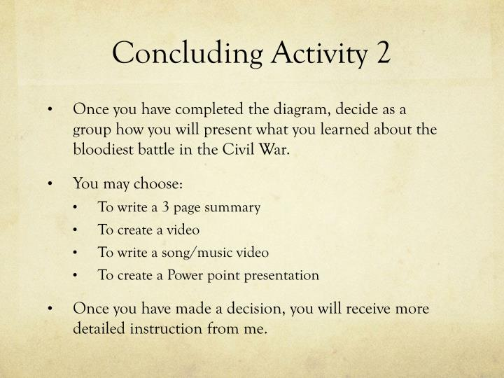 Concluding Activity 2