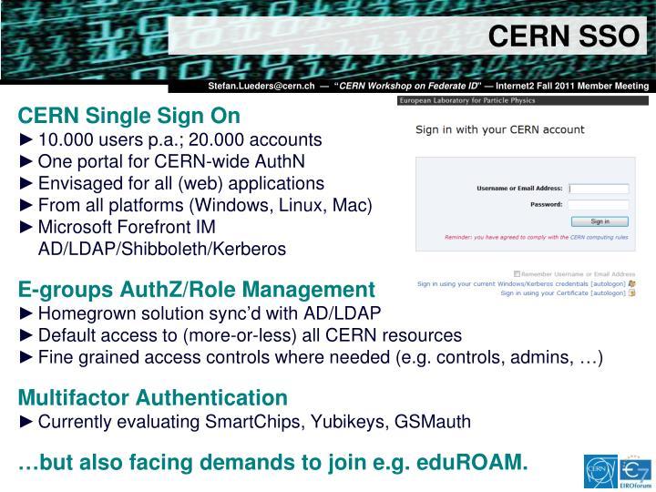 CERN SSO