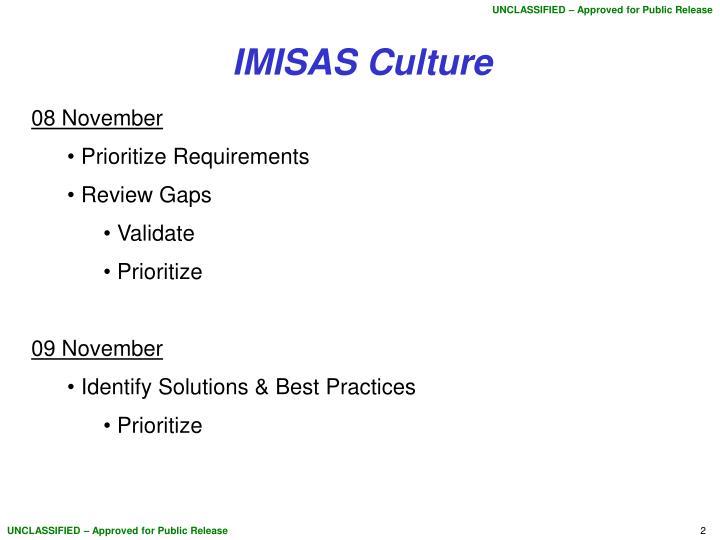 IMISAS Culture