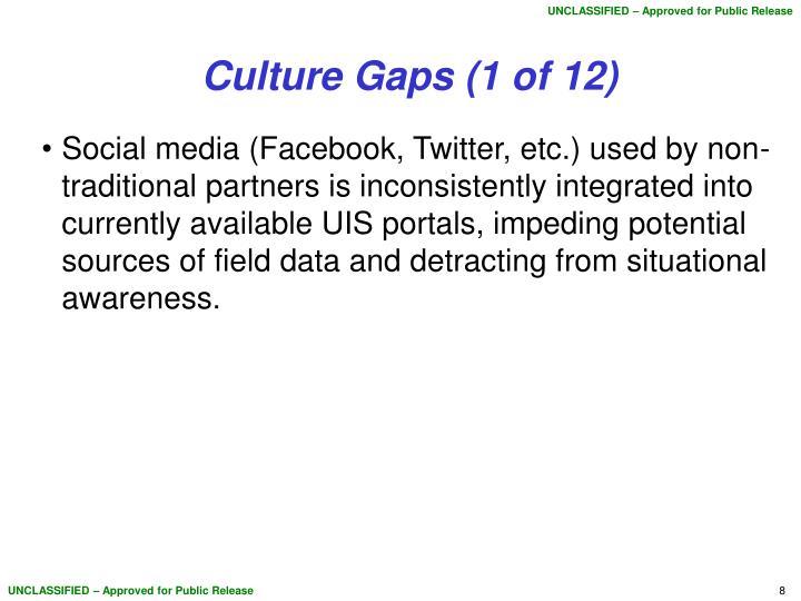 Culture Gaps (1 of 12)