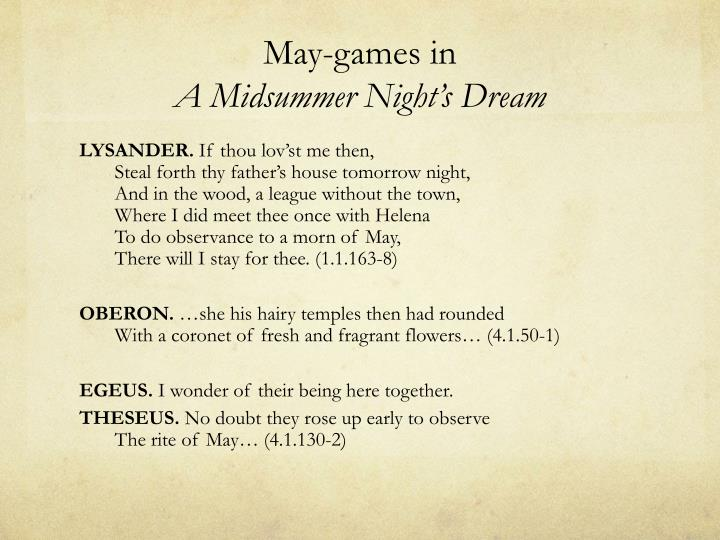 May-games in