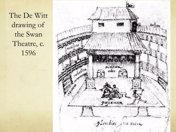 The De Witt drawing of the Swan Theatre, c. 1596