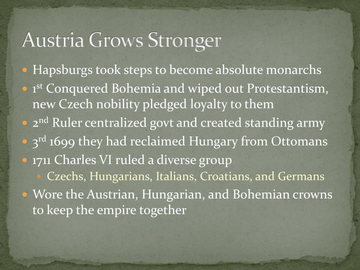 Austria Grows Stronger