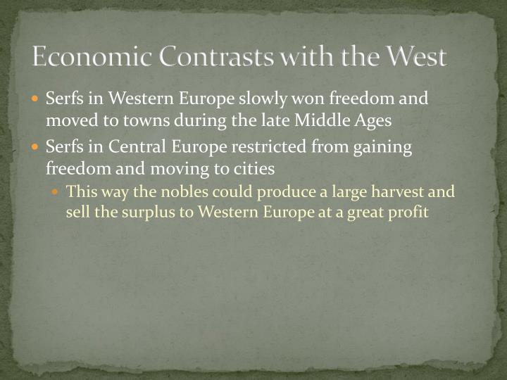 Economic Contrasts with the West