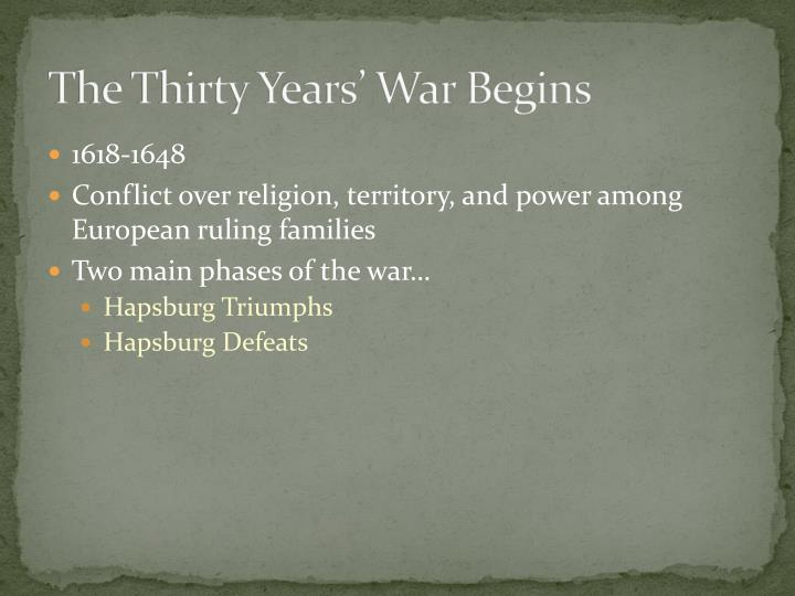 The Thirty Years' War Begins