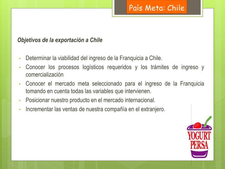 País Meta: Chile