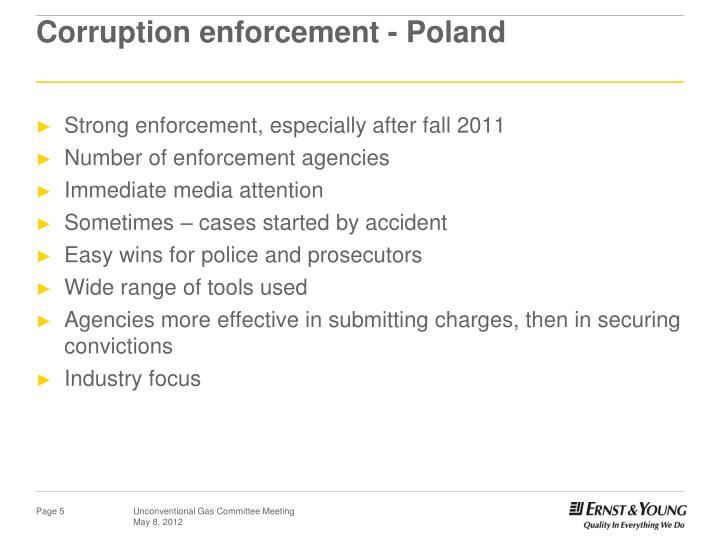 Corruption enforcement - Poland