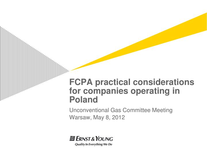 FCPA practical considerations for companies operating in Poland