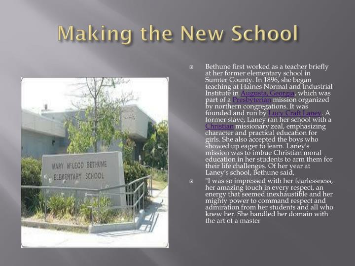 Making the New School