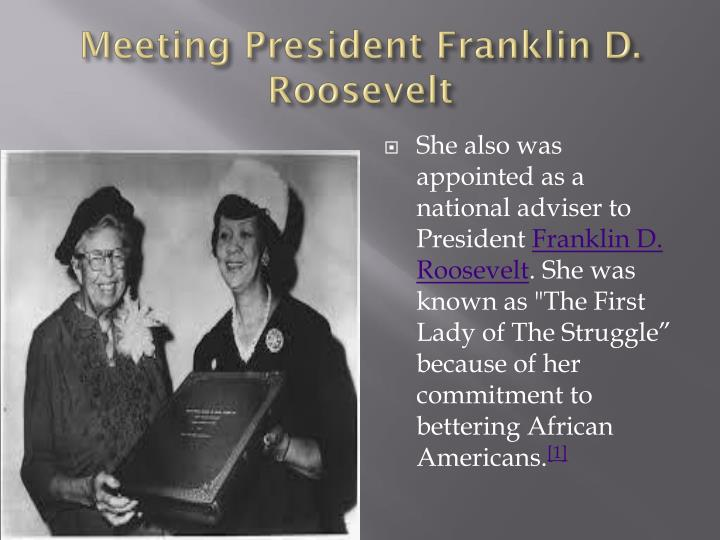 Meeting President Franklin D. Roosevelt