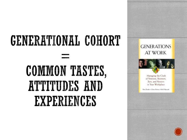 Generational cohort =