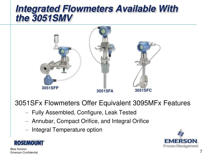Integrated Flowmeters Available With the 3051SMV