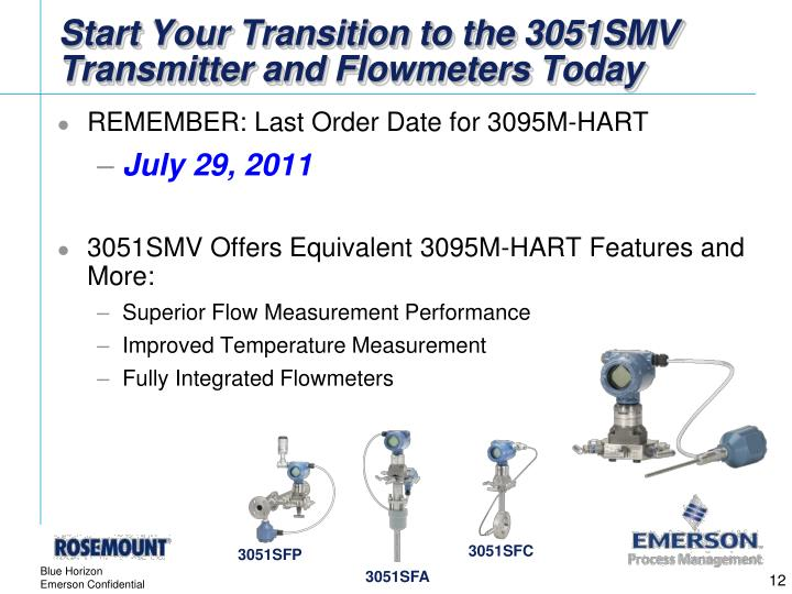 Start Your Transition to the 3051SMV Transmitter and Flowmeters Today