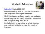 kindle in education