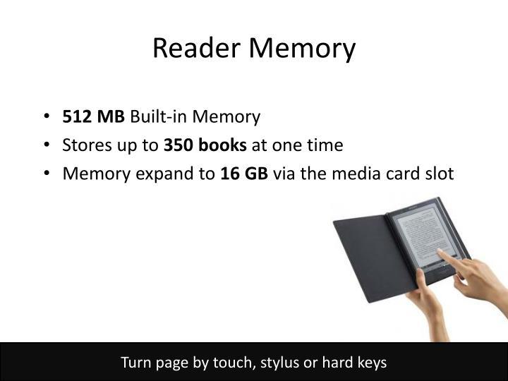 Reader Memory
