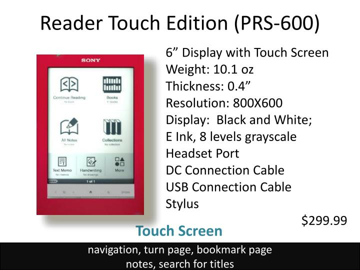 Reader Touch Edition (PRS-600)