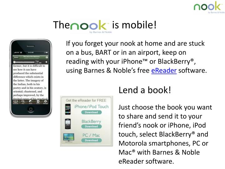 The    Nook   is mobile!