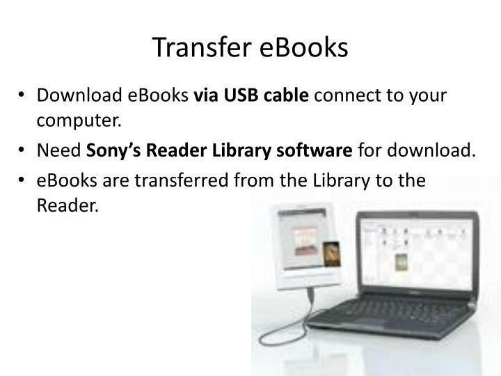 Transfer eBooks