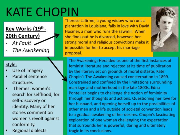 therese lafirme Annotated with concise introduction, including analysis of kate chopin's works as well as modern view on chopin's historical background thérèse lafirme.