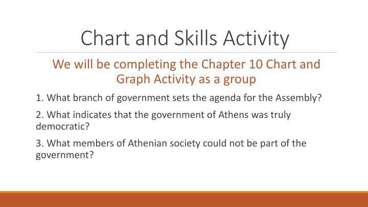 Chart and Skills Activity
