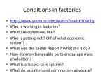 conditions in factories