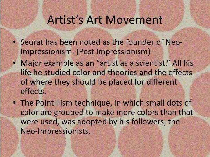 Artist's Art Movement