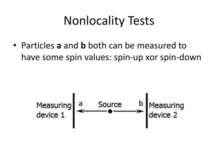 Nonlocality Tests