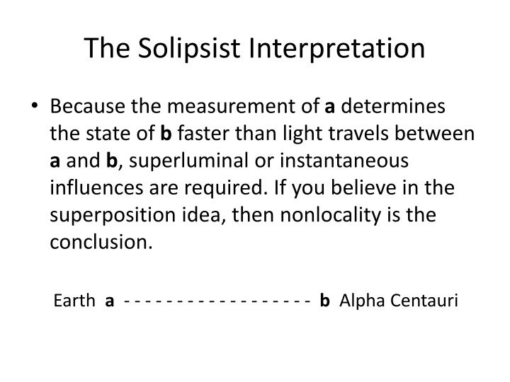 The Solipsist Interpretation