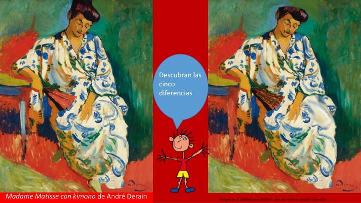 Madame Matisse con kimono