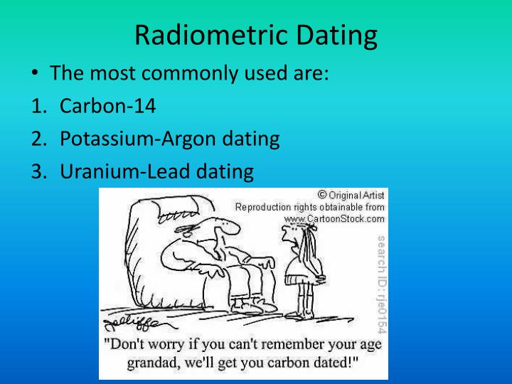 Carbon dating is used to determine the age of fossils