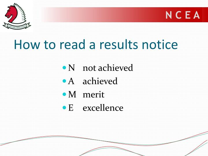 How to read a results notice