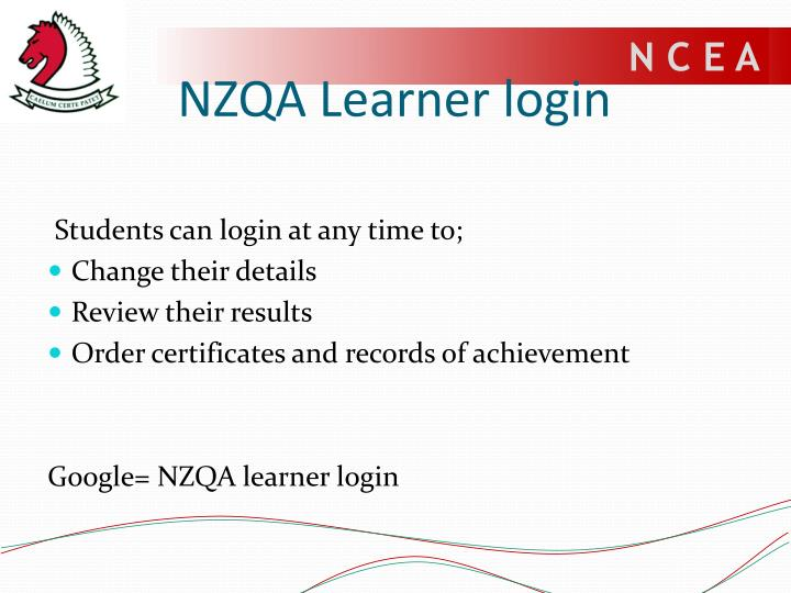 NZQA Learner login
