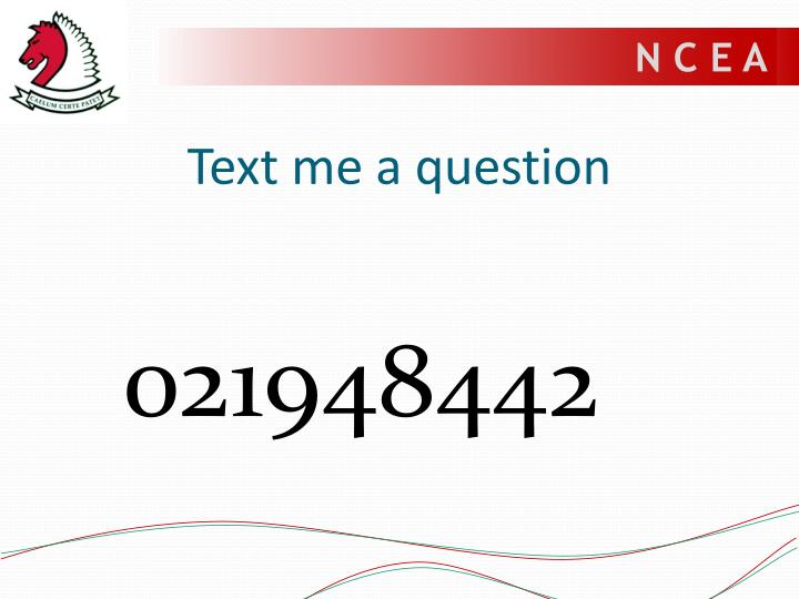 Text me a question