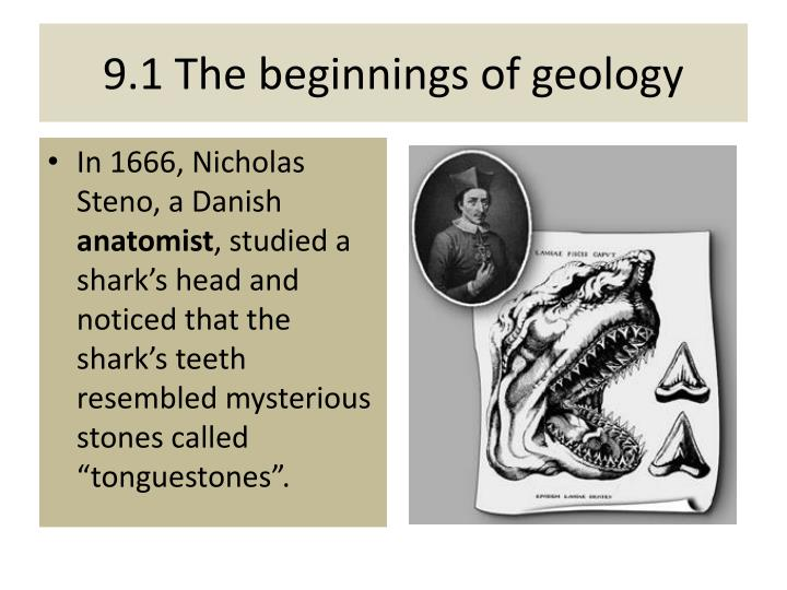 9 1 the beginnings of geology
