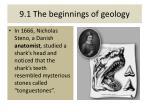 9 1 the beginnings of geology