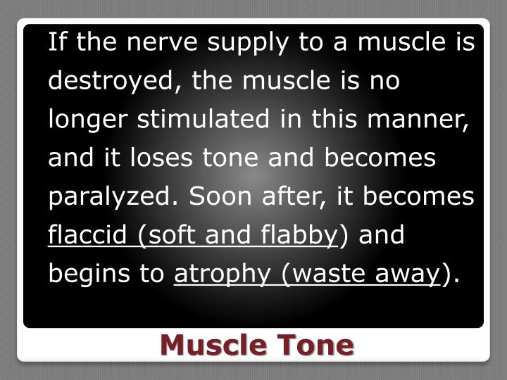 If the nerve supply to a muscle is