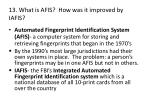 13 what is afis how was it improved by iafis