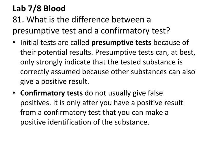 Lab 7/8 Blood