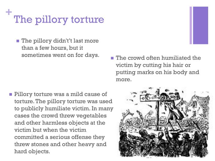 The pillory torture
