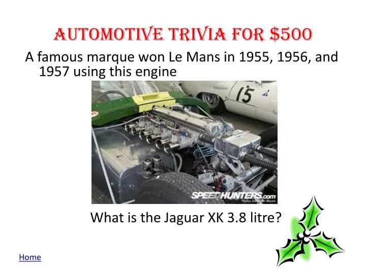 Automotive Trivia