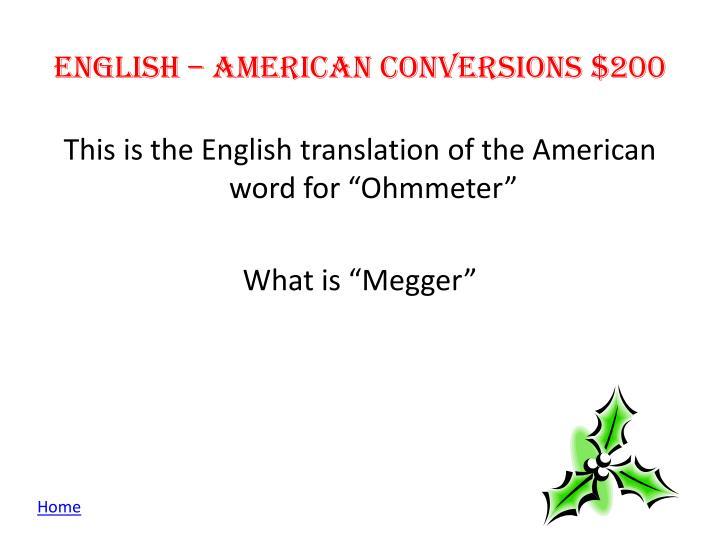 English –