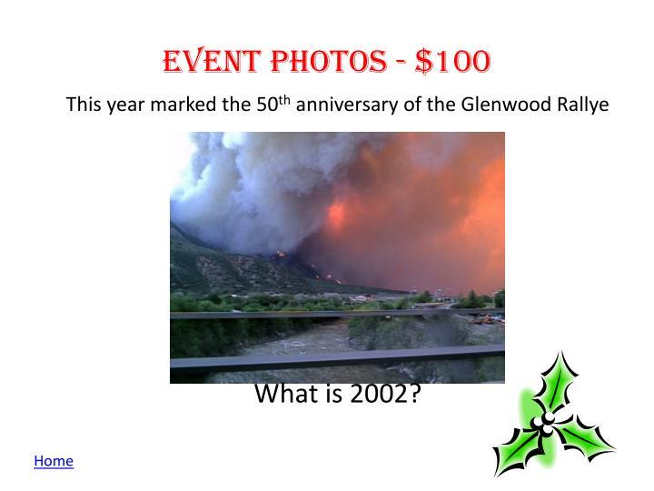 Event photos - $100