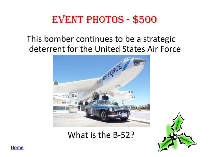 Event photos - $500